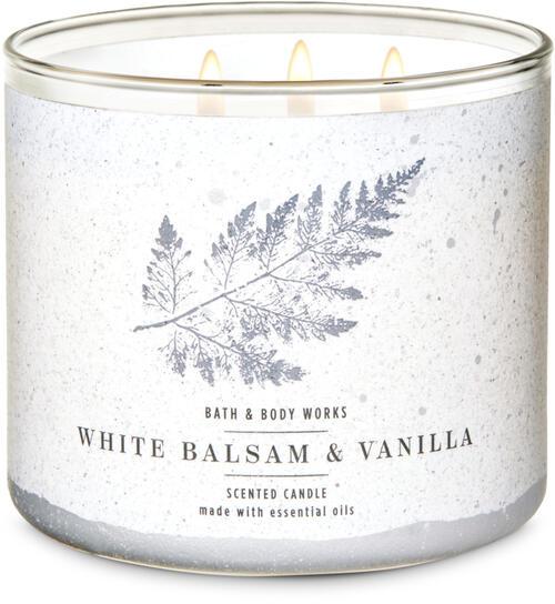 White Balsam & Vanilla 3-Wick Candle