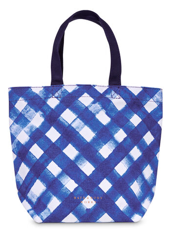 Gingham Canvas Gift Bag - Bath And Body Works