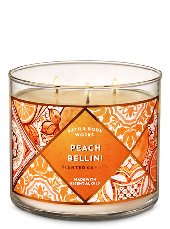 Peach Bellini 3-Wick Candle - Bath And Body Works