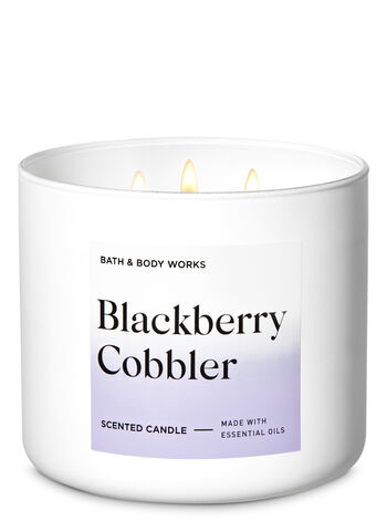 Blackberry Cobbler 3-Wick Candle - Bath And Body Works