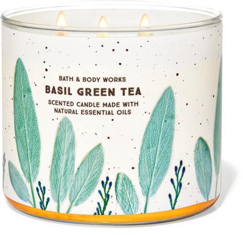 Basil Green Tea 3-Wick Candle