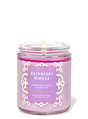 Raspberry Mimosa Single Wick Candle