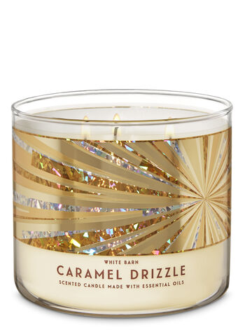 Caramel Drizzle 3-Wick Candle - Bath And Body Works