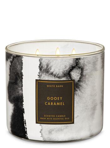 White Barn Gooey Caramel 3-Wick Candle - Bath And Body Works