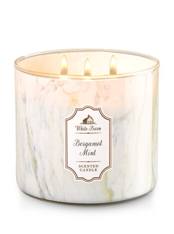 Bergamot Mint 3-Wick Candle - Bath And Body Works