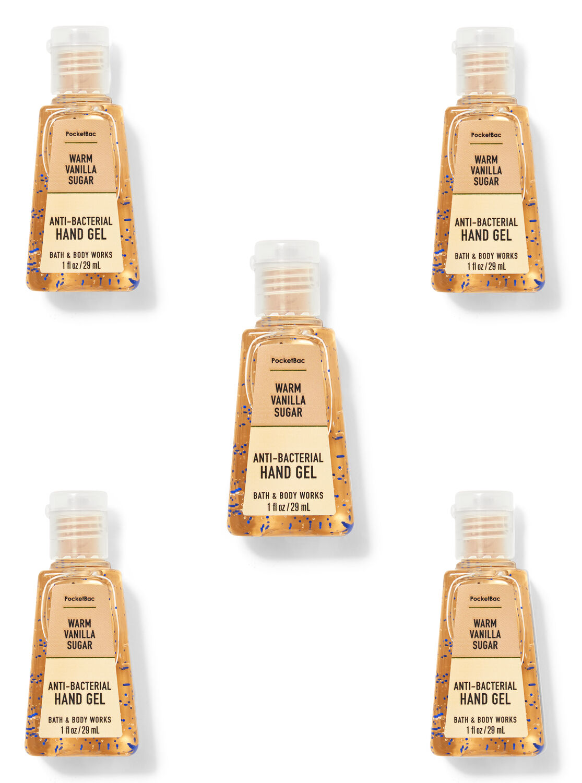 Warm Vanilla Sugar PocketBac Hand Sanitizers, 5-Pack