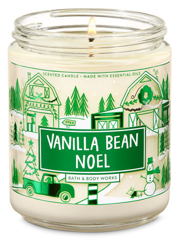 Vanilla Bean Noel Single Wick Candle - Bath And Body Works