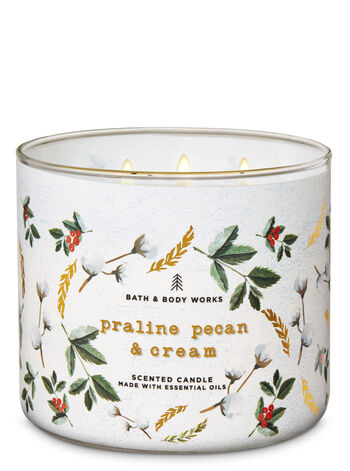 Praline Pecan & Cream 3-Wick Candle - Bath And Body Works