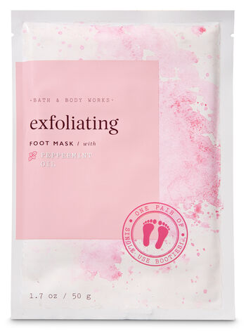 Exfoliating with Peppermint Oil Foot Mask