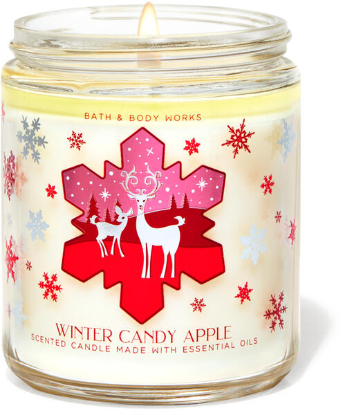 Winter Candy Apple Single Wick Candle