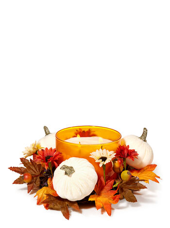White Pumpkin 3-Wick Candle Ring - Bath And Body Works