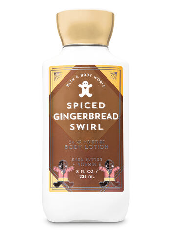 Signature Collection Spiced Gingerbread Swirl Super Smooth Body Lotion - Bath And Body Works