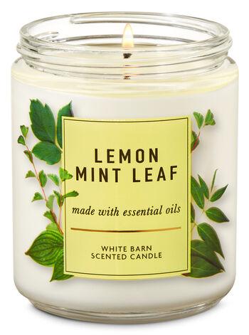 Lemon Mint Leaf Single Wick Candle - Bath And Body Works