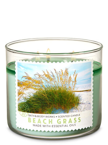 Beach Grass 3-Wick Candle - Bath And Body Works