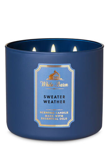 White Barn Sweater Weather 3-Wick Candle - Bath And Body Works
