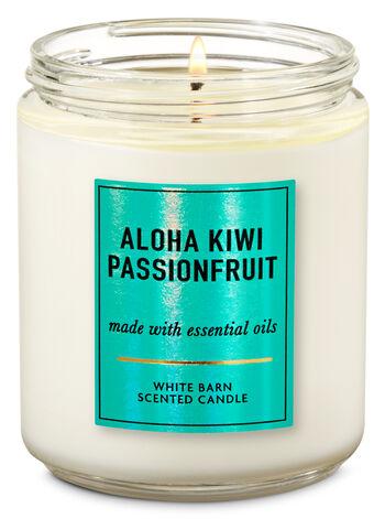 Aloha Kiwi Passionfruit Single Wick Candle - Bath And Body Works