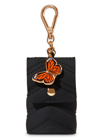 Purse with Butterfly Charm PocketBac Holder - Bath And Body Works