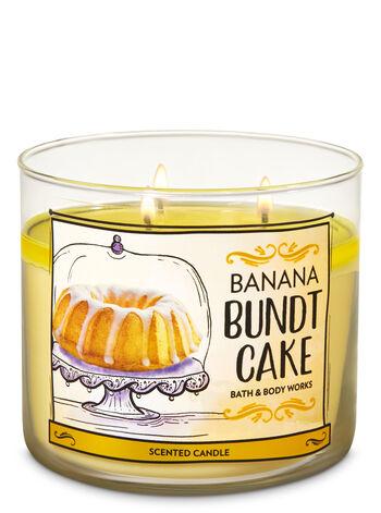 Banana Bundt Cake 3-Wick Candle - Bath And Body Works
