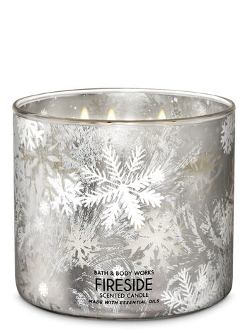 Fireside 3-Wick Candle - Bath And Body Works