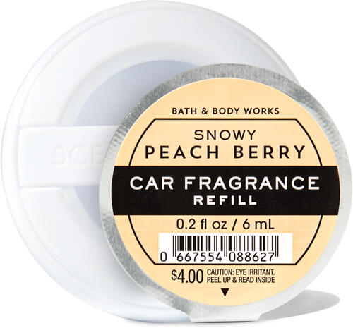 Snowy Peach Berry Car Fragrance Refill