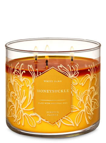 Honeysuckle 3-Wick Candle - Bath And Body Works
