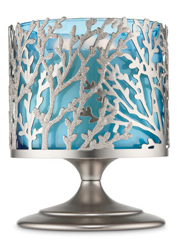 Silver Coral Pedestal 3-Wick Candle Holder - Bath And Body Works