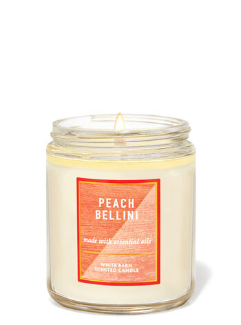 Peach Bellini Single Wick Candle