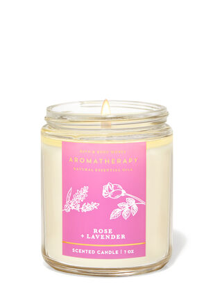 Rose Lavender Single Wick Candle