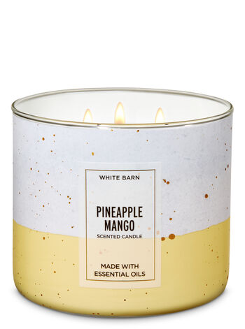 White Barn Pineapple Mango 3-Wick Candle - Bath And Body Works