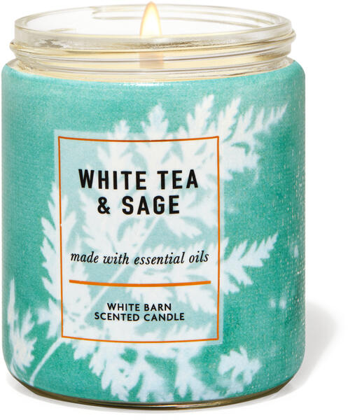 White Tea & Sage Single Wick Candle