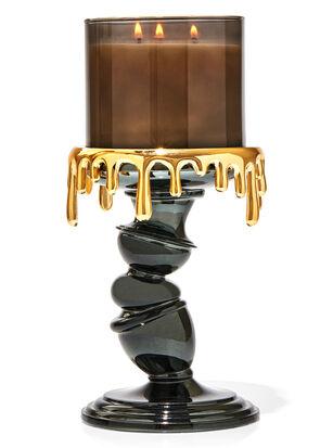 Tilted Pedestal 3-Wick Candle Holder