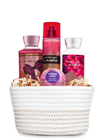 A Thousand Wishes White Basket Gift Set - Bath And Body Works