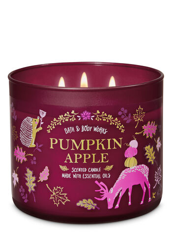 Pumpkin Apple 3-Wick Candle - Bath And Body Works