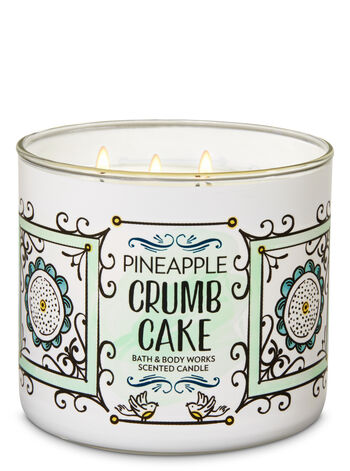 Pineapple Crumb Cake 3-Wick Candle - Bath And Body Works