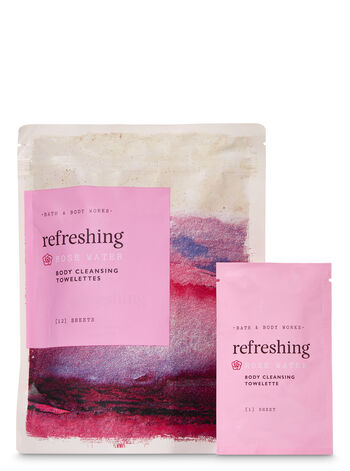 Rose Water Body Cleansing Towelettes, 12-Pack - Bath And Body Works