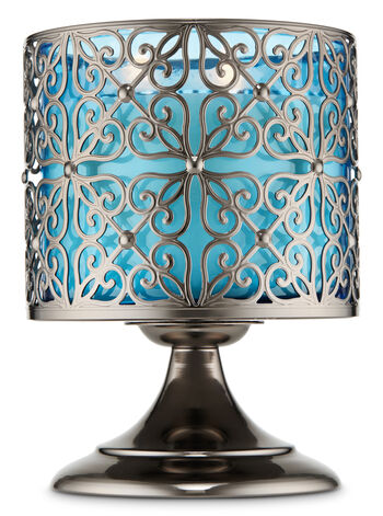 Geometric Heart Pedestal 3-Wick Candle Holder - Bath And Body Works
