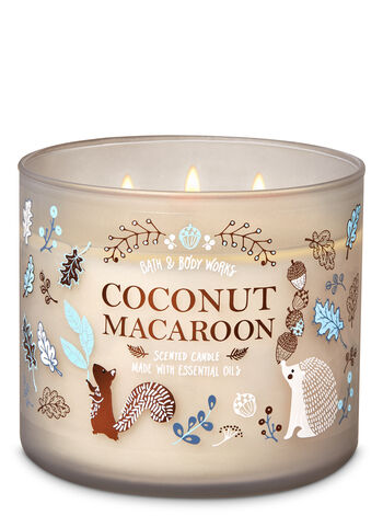 Coconut Macaroon 3-Wick Candle - Bath And Body Works