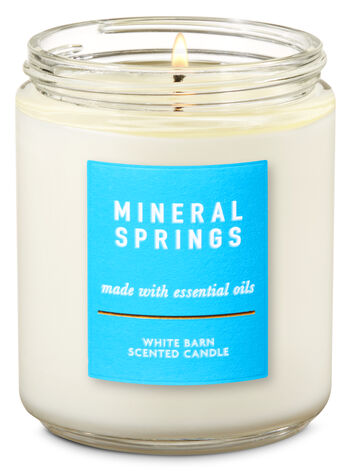 Mineral Springs Single Wick Candle - Bath And Body Works
