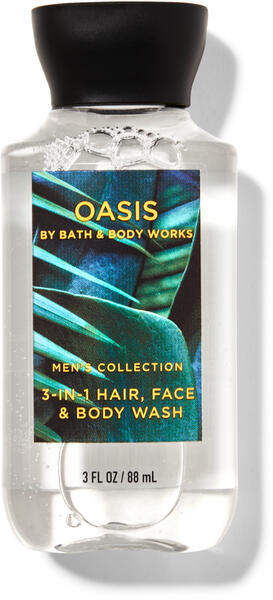 Oasis Travel Size 3-in-1 Hair, Face & Body Wash