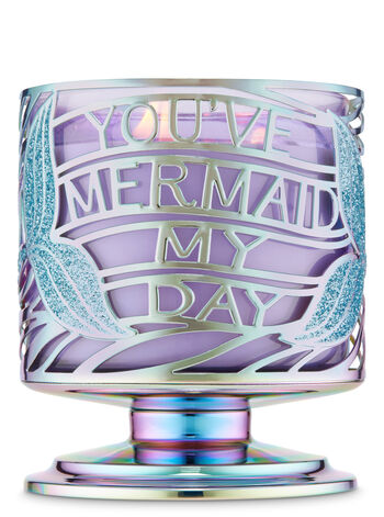 Mermaid My Day Pedestal 3-Wick Candle Holder - Bath And Body Works