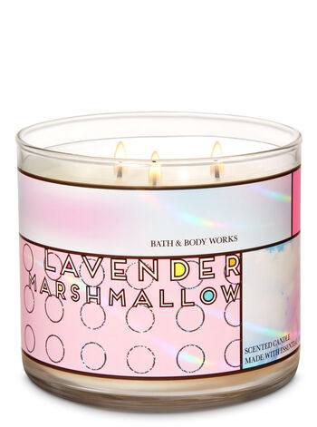 Lavender Marshmallow 3-Wick Candle - Bath And Body Works