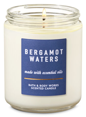 Bergamot Waters Single Wick Candle - Bath And Body Works