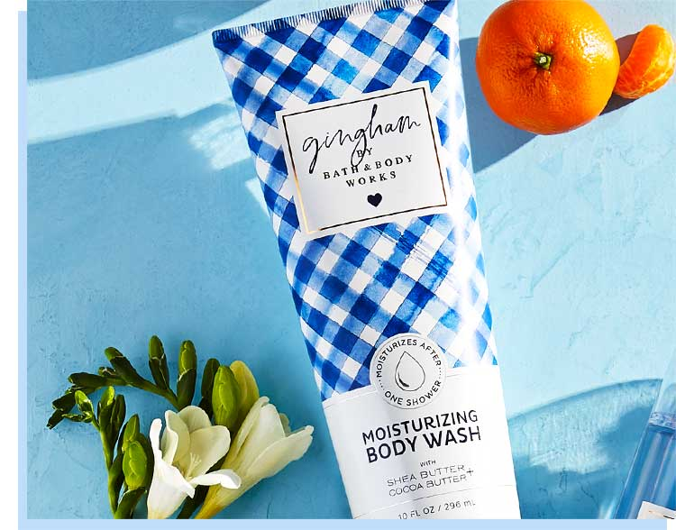 Gingham Body Wash gift for mom