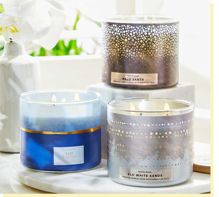 3-Wick candle gift for mom