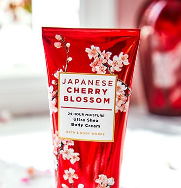 Japanese Cherry Blossom lotion Bath and Body Works