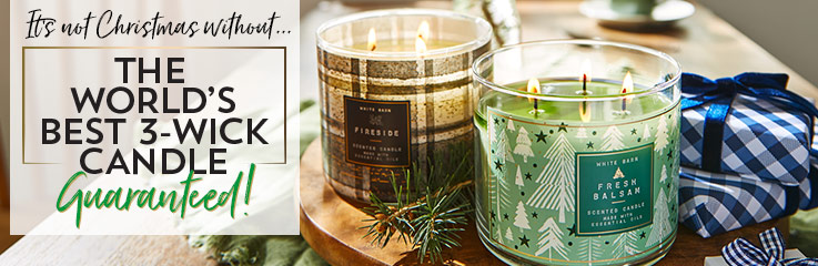 It's not Christmas without... The world's best 3-wick candle Guaranteed!