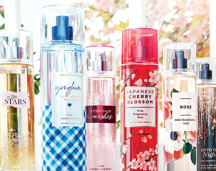 fine fragrance mists gifts for her Bath and Body Works