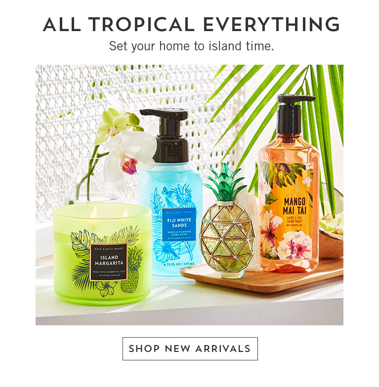 All tropical everything. Set your home to island time. Shop new arrivals.