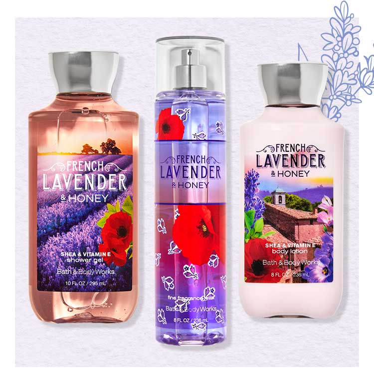 French Lavender & Honey Body Care collection