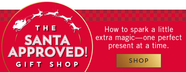 The Santa approved gift shop. How to spark a little magic one perfect present at a time. Shop.